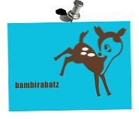 40° Druckstück >Bambirabatz< Aufdruck: Flex- und Flockfolie