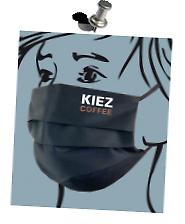 Individueller Mund-Nase-Maske-Logo-Druck der Firma >KIEZ COFFEE< Flexfolie